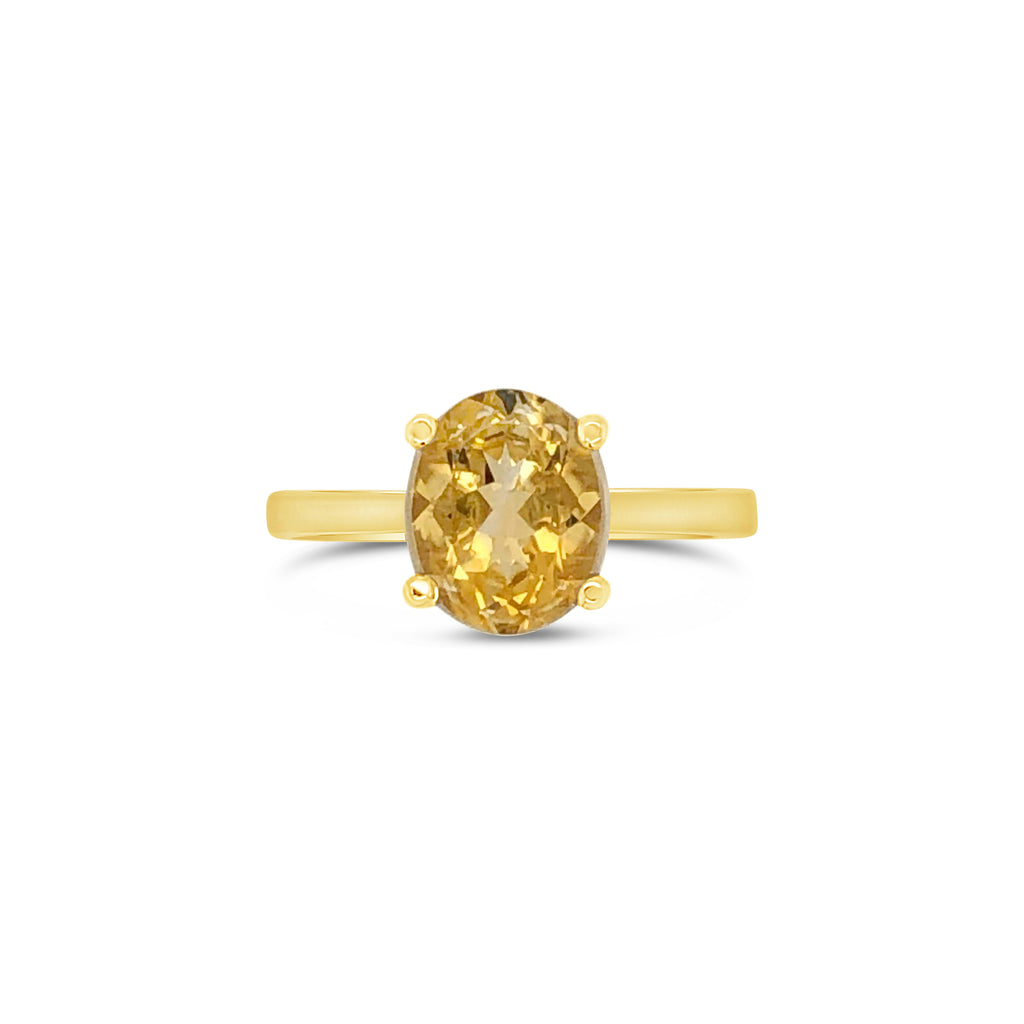 Large Petra Yellow Gold Citrine