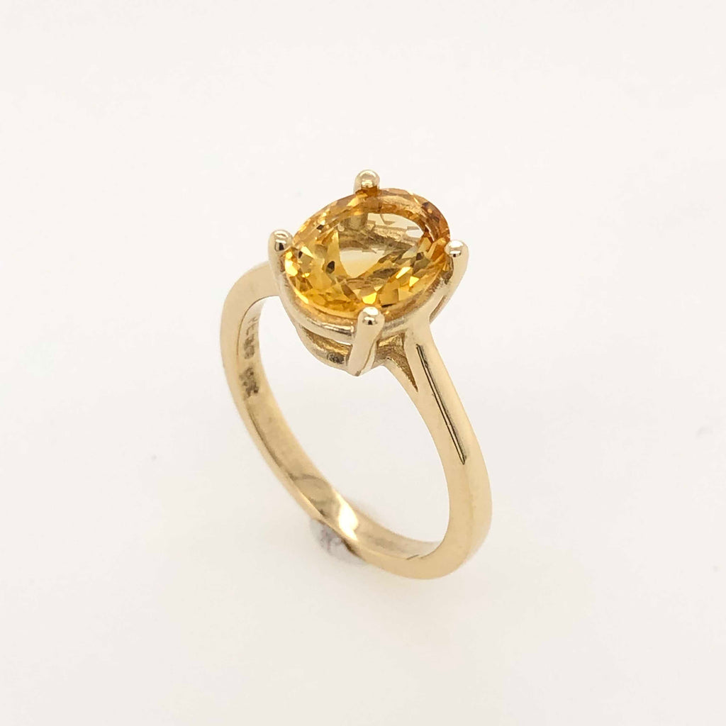 Small Petra Yellow Gold Citrine