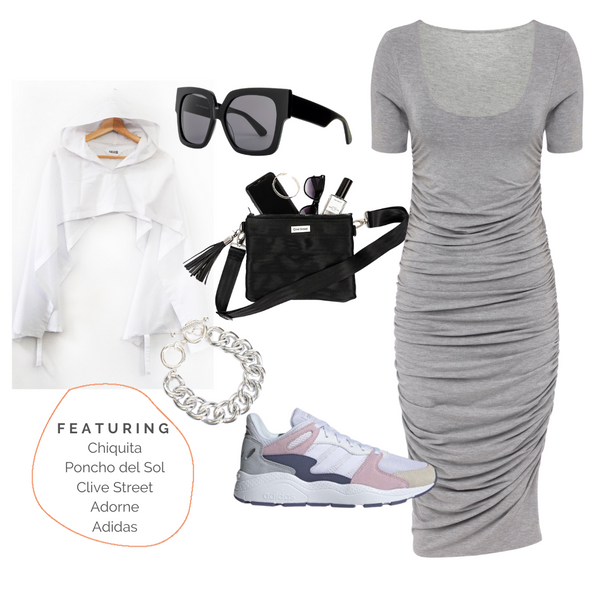 Grey bodycon sport vibes