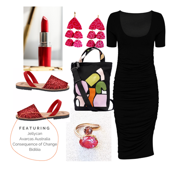 bodycon style red shoes