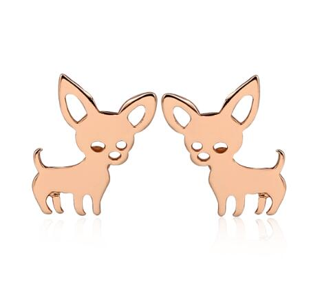 Chihuahua Stainless Steel Earrings