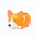 Cute Corgi Mini Desktop Flower Pot