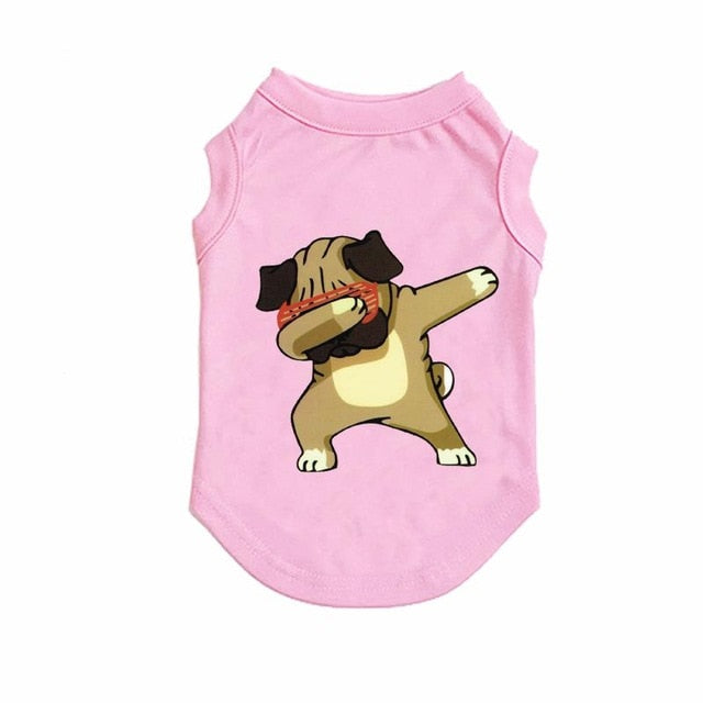Small Medium Dog Cotton Vest