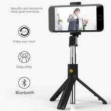 Load image into Gallery viewer, 3 in 1 Wireless Bluetooth Selfie Stick For IPhone & Android - Handheld Remote/Extendable Mini Tripod - WorstNights