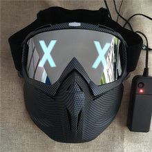 Load image into Gallery viewer, LED Glowing X Black Mask - WorstNights