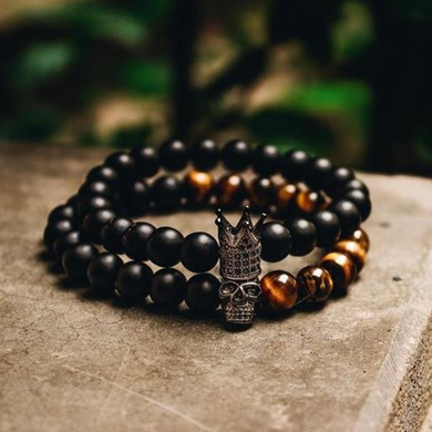 Skull & Crown Stone Bracelet - WorstNights
