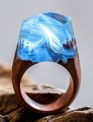 Waltz of the Winds! | Wood Resin Rings | Nature Inspired Handcrafted Men & Women Rings - WorstNights