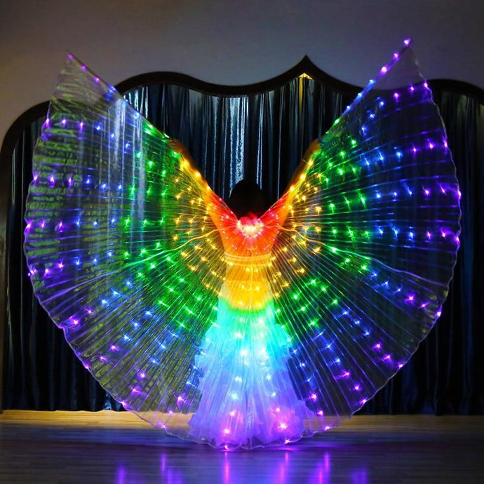 LED Rainbow Performance Wings - WorstNights