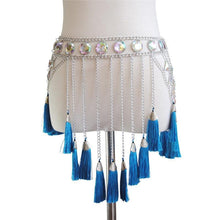 Load image into Gallery viewer, Silver Metal Tassel Skirt - WorstNights