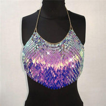 Load image into Gallery viewer, Festival Backless Sequins Tank Top - WorstNights