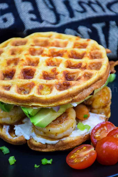This Cajun Shrimp and Avocado Chaffle is a delicious low carb sandwich that is perfect for lunch! Full of tasty ingredients like shrimp, avocado, and bacon, this Keto Friendly lunch can be prepared ahead of time and assembled later, making it an...