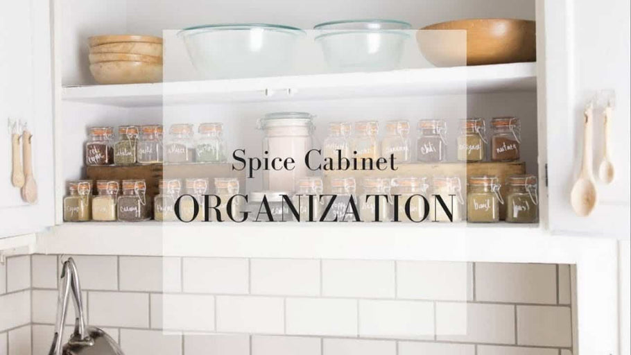 Join me for a little spice cabinet organization