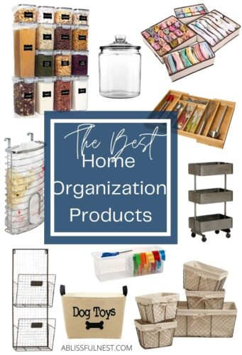 Sharing the BEST home organization products to get your home in tip-top shape! From drawer organizers, shelf units and jars,...Read More
