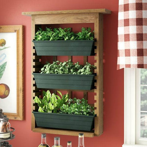 Best 3 Piece Indoor-Outdoor Wood Wall Planter Vertical Garden