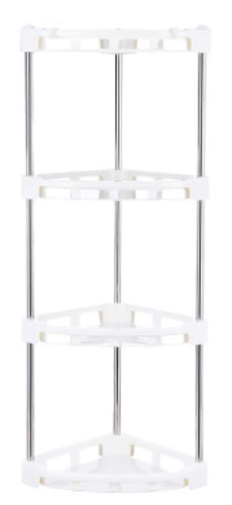 Best 4-Tier Corner Storage Organizer Shelf I Best Kitchen Spice Rack, Makeup/Cosmetics Counter Organizing Stand, Bathroom Organizer (Off White) (4-Tier)