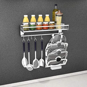 Best SuperFitMe Hanging Spice Rack with Hook (Type 304 Stainless Steel)