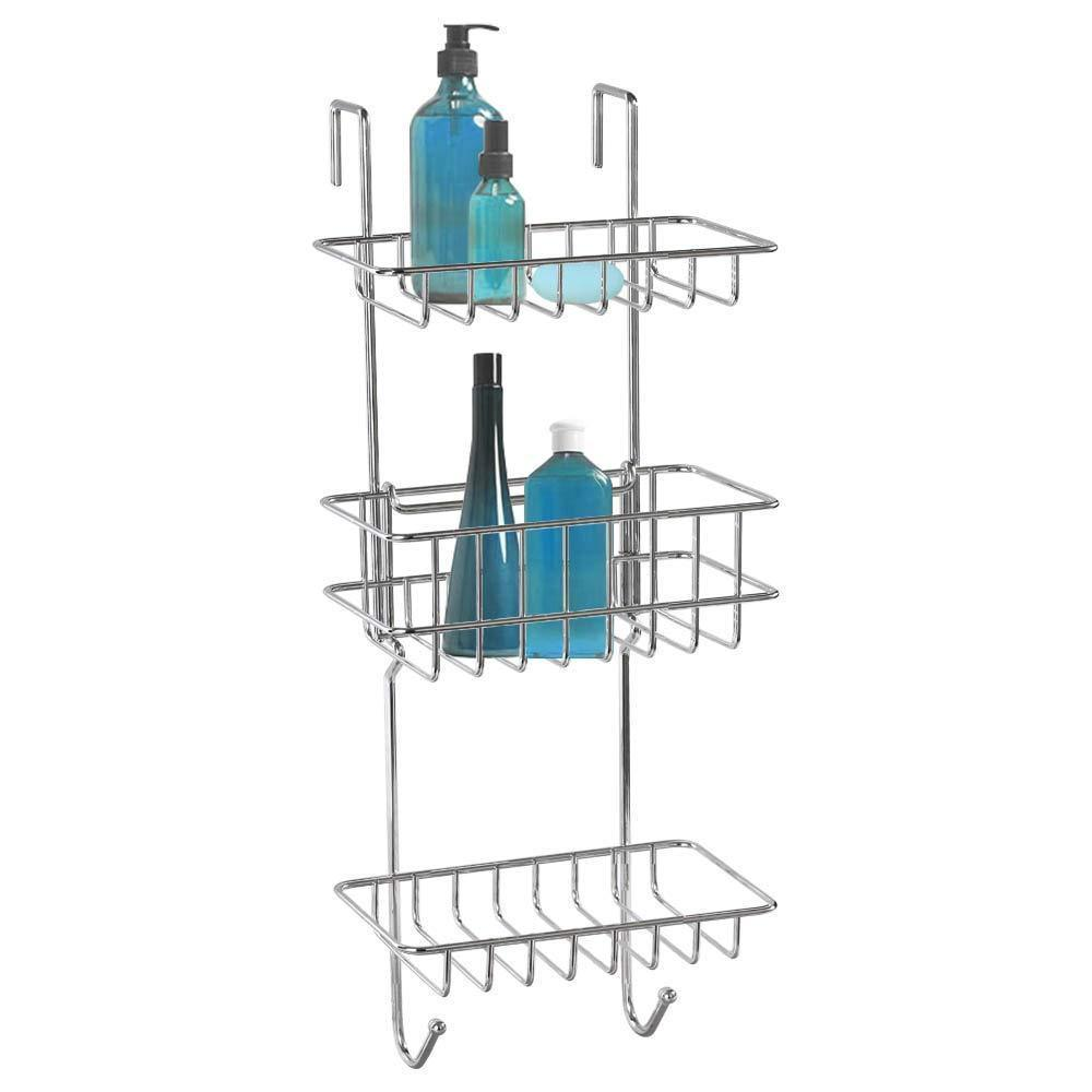 Best HonTop Shower Caddy Storage Organizer with 3 Baskets Over The Door Rack for Bathroom Kitchen Storage Shelves Toiletries Spice Towel and Soap Holder