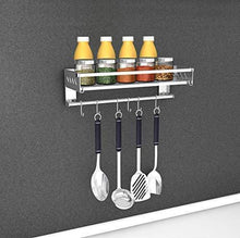 Load image into Gallery viewer, SuperFitMe Hanging Spice Rack with Hook (Type 304 Stainless Steel) - Productive Organizing