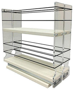 Best Vertical Spice - 22x2x11 DC - Spice Rack - Narrow Space w/2 Drawers each with 2 Shelves - 20 Spice Capacity - Easy to Install