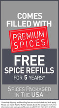 Load image into Gallery viewer, Best Kamenstein Magnetic 12-Tin Spice Rack with Free Spice Refills for 5 Years