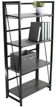 Load image into Gallery viewer, Best Sorbus Bookshelf Rack 4 Tiers Open Vintage Bookcase Storage Organizer, Modern Wood Look Accent Metal Frame, Shelf Rack Furniture Home Office, No Assembly Required