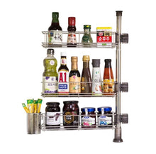 Load image into Gallery viewer, Multipurpose Lathe for Kitchen, Stainless Steel Adjustable Dish Drying Rack Utensil Holder, Over the Sink Kitchen Storage Shelf, Spice Cabinet - Productive Organizing