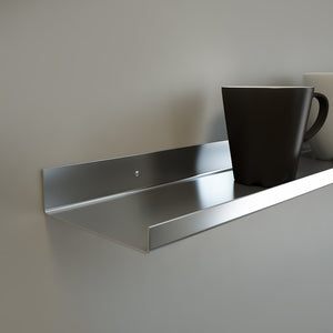 "Best OVER THE RANGE Shelf, Floating/ Reversible Ledge, Spice Rack, Mug Display 30"" long (5"" deep, Stainless Steel)"