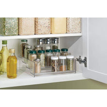 Load image into Gallery viewer, mDesign Plastic Kitchen Spice Bottle Rack Holder, Food Storage Organizer for Cabinet, Cupboard, Pantry, Shelf - Holds Spices, Mason Jars, Baking Supplies, Canned