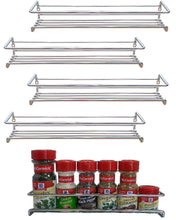 Load image into Gallery viewer, Best Premium Presents 5 Pack. Wall Mount Spice Rack Organizer for Cabinet. Spice Shelf. Seasoning Organizer. Pantry Door Organizer. Spice Storage. 12 x 3 x 3 inches Brand