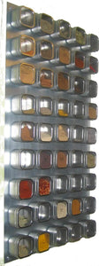 Best Culinarian II Magnetic Spice Rack - 48 Bravada Square Clear Lid Magnetic Spice Tins, Brushed Stainless Steel Versa-Board Wall Base, 149 Spice Labels