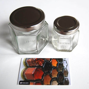 Gneiss Spice Everything Spice Kit: 24 Magnetic Jars Filled with Standard Organic Spices / Hanging Magnetic Spice Rack (Large Jars, Silver Lids) - Productive Organizing