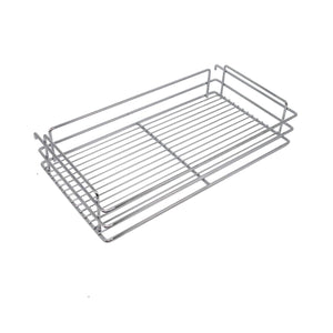 Best 10x18.5x25.9 Inch Cabinet Pull-Out Chrome Wire Basket Organizer 3-Tier Cabinet Spice Rack Shelves Full Pullout Set