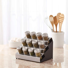 Load image into Gallery viewer, Kamenstein 5192805 Tilt 12-Jar Countertop Spice Rack Organizer with Free Spice Refills for 5 Years - Productive Organizing