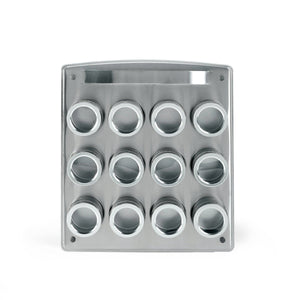Best Kamenstein Magnetic 12-Tin Spice Rack with Free Spice Refills for 5 Years