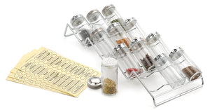 "Best Spice Rack and 12-Bottle Set - Endurance (Chrome) (3.25""h x 6.50""w x 17""L)"