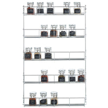 Load image into Gallery viewer, VonShef 5 Tier Spice Rack Chrome Plated (Easy Fix) for Herbs and Spices Suitable for Wall Mount or Inside Cupboard - Productive Organizing