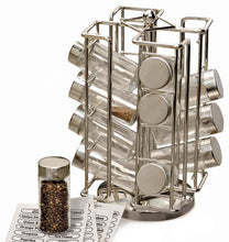 "Load image into Gallery viewer, Best Spice Rack - Revolving Chrome Spice Rack (6 1/2"" x 6 1/2"" x 11 1/2"")"
