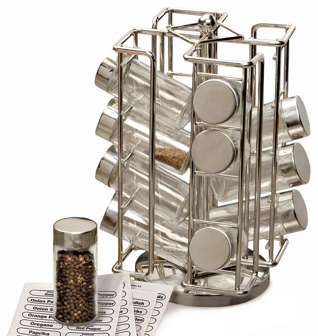 Best Spice Rack - Revolving Chrome Spice Rack (6 1/2