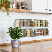 Load image into Gallery viewer, Best Gorgeous Spice Rack Organizer for Cabinets or Wall Mounts - Space Saving Set of 4 Hanging Racks - Perfect Seasoning Organizer For Your Kitchen Cabinet, Cupboard or Pantry Door