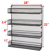 Load image into Gallery viewer, Best BBBuy 4 Tier Spice Rack Organizer wall mounted Country Rustic Chicken Holder Large Cabinet or Wall Mounted Wire Pantry Storage Rack, Great for Storing Spices, Household stuffs