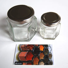 Load image into Gallery viewer, Gneiss Spice Everything Spice Kit: 24 Magnetic Jars Filled with Standard Organic Spices/Hanging Magnetic Spice Rack (Small Jars, Silver Lids) - Productive Organizing