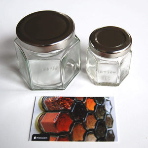 Gneiss Spice Everything Spice Kit: 24 Magnetic Jars Filled with Standard Organic Spices/Hanging Magnetic Spice Rack (Small Jars, Silver Lids) - Productive Organizing