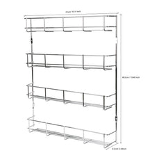Load image into Gallery viewer, Best Exzact EXERZ Herb and Spice Rack 4 Tiers – Kitchen Shelf Organiser for Jars, Perfect Space Saving and Storage. Wall mountable or Cupboard Door Fitting (Fixings Included in The Package) EXSR004-4