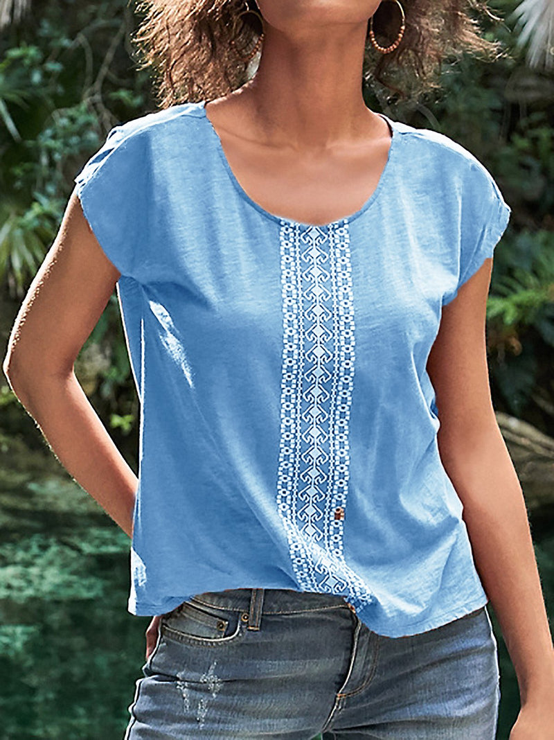 Boho Printed Short Sleeve T Shirts
