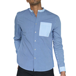 Mixy Stand-up Collar Shirt