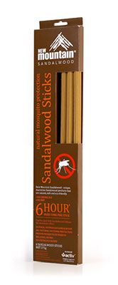 Sandalwood Mosquito Sticks 6 Hour - New Mountain