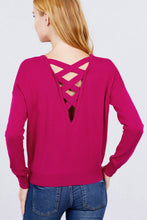 Load image into Gallery viewer, V-neck Back Cross Sweater