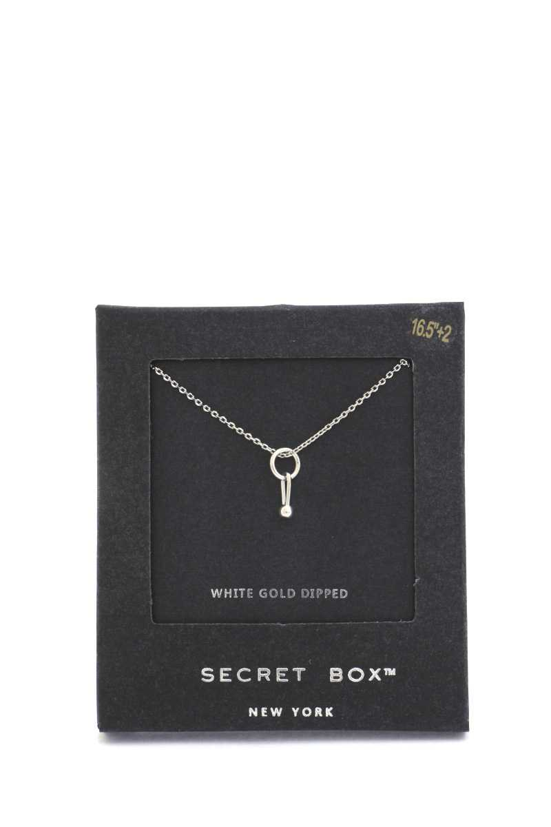 Secret Box Dainty Ring Charm Necklace