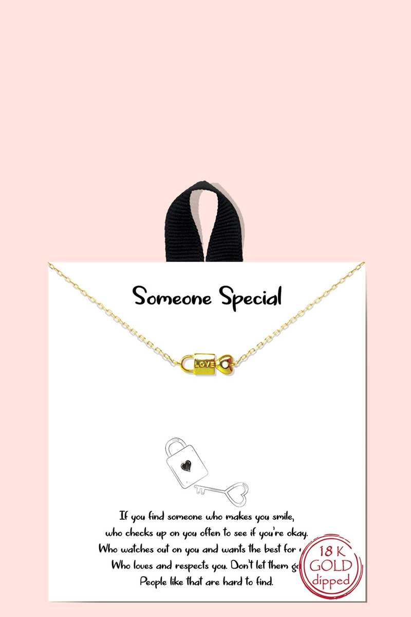 18k Gold Rhodium Dipped Someone Special Pendant Necklace