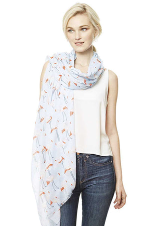 Fashion Bird Print Skinny Scarf